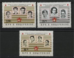 ALBANIA, Full Set Freedom Fighter VIII 1986, Never Hinged Mi #2296-98 - Albanie