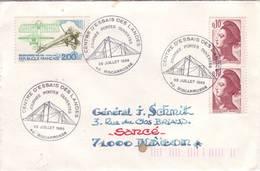 LANDES BISCARROSSE CENTRE ESSAI DES LANDES 1988 - Poststempel (Briefe)