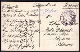Soldier's Free Mail 1917 / Feldpost / KuK Marinefeldpostamt Pola / Postcard Trieste Miramar - Briefe U. Dokumente