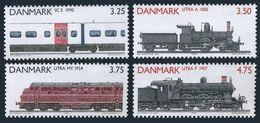 Denmark 932-935,MNH.Michel 996-999. Locomotives 1991. - Unused Stamps
