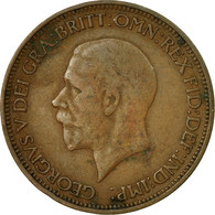 Monnaie, Grande-Bretagne, George V, 1/2 Penny, 1928, TTB, Bronze, KM:837 - 1902-1971 : Monnaies Post-Victoriennes