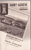 Brochure Touristique Années 30 Saint Agrève (07) Station Estivale Du Haut Vivarais 32 P + 10 P Pub Commertces - Tourism