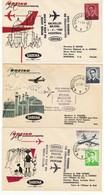 """B E L G I C A -   5 SOBRES PRIMEROS VUELOS LINEAS AEREAS    """"""""""""SABENA"""""""""""" - 1951-60"""