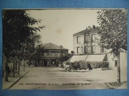 CPA - SAINT-GRATIEN - ROND-POINT DE LA GARE - ATTELAGE - Animée - N/b - Vers 1910 - - Saint Gratien
