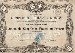 Action Ancienne - Compagnie Des Chemins De Fer D'Orléans à Chalons - Titre De 1870 - VF - Ferrocarril & Tranvías