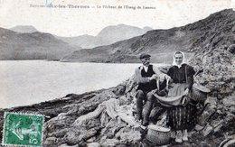 Environs D'AX-LES-TERMES: Le Pécheur De L'étang De Lanoux,montrant Ses Truites,en1913,tbetat - Ax Les Thermes