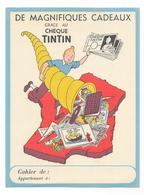 Protège Cahier Ancien  Chèque TINTIN - Buvards, Protège-cahiers Illustrés