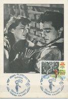 ITALIA - FDC MAXIMUM CARD 1988 - CINEMA - RISO AMARO DI G. DE SANTIS - ANNULLO SPECIALE - Cartoline Maximum
