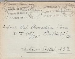 """LAC 1939 - Cachet Et Flamme FONTAINEBLEAU """" Fontainebleau Palais Et Forêt Séjour Idéal """" - Marcofilia (sobres)"""