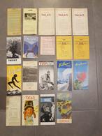 Lot 19 Brochures Touristiques Suisse / Valais / Leysin / Montreux / Sion / Villars / Martigny / Trient / Gstaad - Dépliants Touristiques