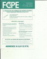 Conseil  De F C P E  Chambery 73  Année Scolaire 1985-86 _( 2 Pages  Depliante  Voir Scan  Details - Diploma & School Reports