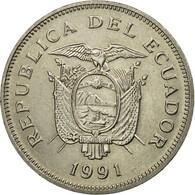Monnaie, Équateur, 20 Sucres, 1991, SUP, Nickel Clad Steel, KM:94.2 - Equateur