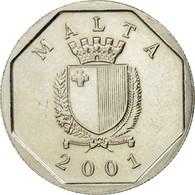 Monnaie, Malte, 5 Cents, 2001, SUP, Copper-nickel, KM:95 - Malte