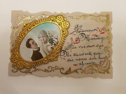 """Ancienne CP """"Heureux Mariage"""" Arquennes (Belgique) - Chiens"""
