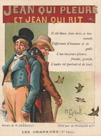 Publicité Alcool De Menthe De RICQLES - SAINT OUEN (près Paris) - Jean Qui Pleure Et Jean Qui Rit - Publicités