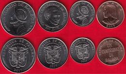 "Panama Set Of 4 Coins: 1 Centesimo - 1/4 Balboa 2017 ""New Coat Of Arms"" UNC - Panama"