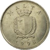 Monnaie, Malte, 25 Cents, 1998, Franklin Mint, TTB, Copper-nickel, KM:97 - Malte