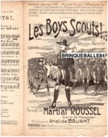CAF CONC MILITARIA PARTITION LES BOYS SCOUTS ARISTIDE BRUANT MARTIAL ROUSSEL 1915 MATHIEU PUTEAUX - Musica & Strumenti