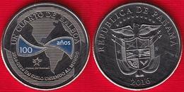 "Panama Cuarto (1/4) Balboa 2016 ""Canal 100 Year Ann."" (6th Coin) Colored UNC - Panama"