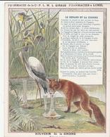 LUNEL ( Hérault) - Pharmacien à LUNEL - Le Renard Et La Cigogne - Souvenir De La ZINDINE - Werbung