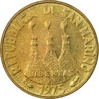 Monnaie, San Marino, 20 Lire, 1975, Rome, TTB, Aluminum-Bronze, KM:44 - Saint-Marin