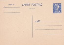 2 Entiers Postaux 1011b-cp1 20f Bleu ( 1 Neuf Et 1 Oblitéré) - Postal Stamped Stationery