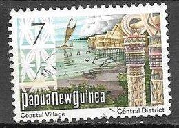 1973 7t Coastal Village, Used - Papoea-Nieuw-Guinea