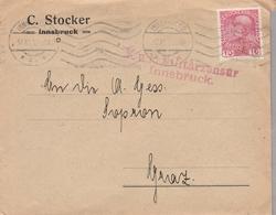 LSC 1915 - CENSURE - Cachet MILITAR ZENSUR - Innsbruck - 1850-1918 Empire