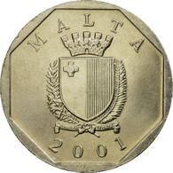 Monnaie, Malte, 50 Cents, 2001, SUP, Copper-nickel, KM:98 - Malte