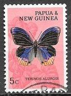 1966 5c Butterfly, Used - Papoea-Nieuw-Guinea