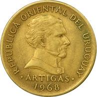 Monnaie, Uruguay, 10 Pesos, 1968, Santiago, TTB, Nickel-brass, KM:51 - Uruguay