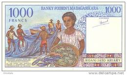 MADAGASCAR P. 76a 1000 F 1994 UNC - Madagascar