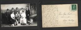 Germany 1913, Family Group, Studio Pose, Photo, Posted In Bavaria, WORISDOFEN 27 JUN 13 - Children And Family Groups