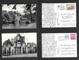 Belgium Bruges, Ostende Gate, Ghent, Chateau Des Comptes, Used. 3F50,  1963, 1969> S.Africa - Belgium