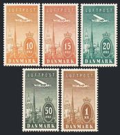 Denmark C6-C10,MNH-.Michel 217-221. Air Post 1934.Towers Of Copenhagen. - Unused Stamps