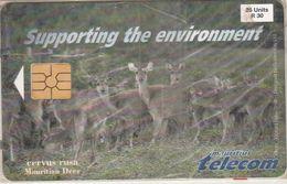 Mauritius - MU-MAU-0063, Mauritian Deer, Animals (Fauna). First Issue, 25U, 30.000ex, 1998, Mint Blister Torn Corner - Mauritius