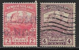 Newfoundland, Scott # 116,118 Used Caribou, 1919 - Newfoundland