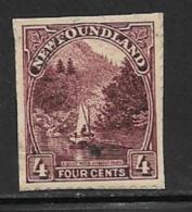 Newfoundland, Scott # 134 Used On Paper Humber River, 1923, Trimmed - Newfoundland