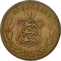 Monnaie, Guernsey, 8 Doubles, 1864, Heaton, Birmingham, TB+, Bronze, KM:7 - Guernesey