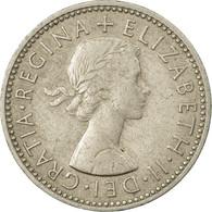 Monnaie, Grande-Bretagne, Elizabeth II, Shilling, 1955, TTB, Copper-nickel - 1902-1971 : Monnaies Post-Victoriennes