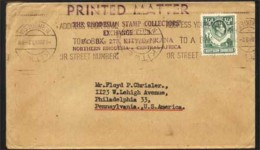 N.RHODESIA-USA 1949 INVERTED MACHINE CANCEL ON COVER AA1662 - Philately & Coins