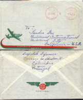 PORTUGAL-USA 1962 METER AIRMAIL COVER AB5945 - Philately & Coins