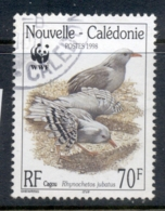 New Caledonia 1998 WWF Kagu, Bird 70f FU - New Caledonia