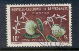 New Caledonia 1964-65 Flowers 10f FU - New Caledonia
