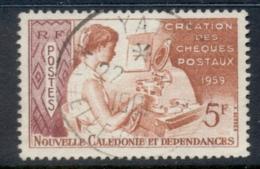 New Caledonia 1960 Girl Operating Cheque Writer 5f FU - New Caledonia