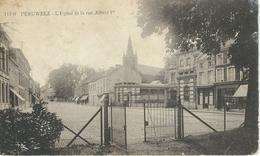 117/9 PERUWELZ : L'Eglise Et La Rue Albert Ier - RARE CPA - Péruwelz