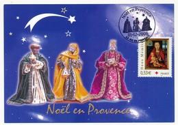 "FRANCE - Obl. Temp. ""Noël En Provence - 13 AIX EN PROVENCE"" 01.12.2006 S/timbre Hans Memlin - Marcophilie (Lettres)"