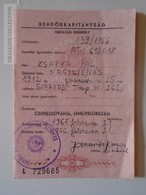 ZA108.13   Travel Document -Exit Permit - Passport - Hungary 1966 - Historical Documents