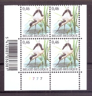 BELGIE * Buzin * Nr 3479  Barcode + Pl 7 * Postfris Xx * DOF FLUOR  PAPIER - 1985-.. Oiseaux (Buzin)