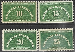 US  1925-8    Sc#QE1-4   Special Handling Set MNH  2016 Scott Value $54.25 - Parcel Post & Special Handling
